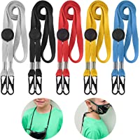 Lanyards for Kids 5 Pack - Adjustable Length Face Lanyard with Clips On Both Ends The Neck Rest Ear Saver for School…