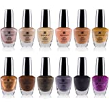 SHANY Cosmetics Nail Polish Set - 12 Nude and Natural Shades in Gorgeous Semi Glossy and Shimmery Finishes - Earth…