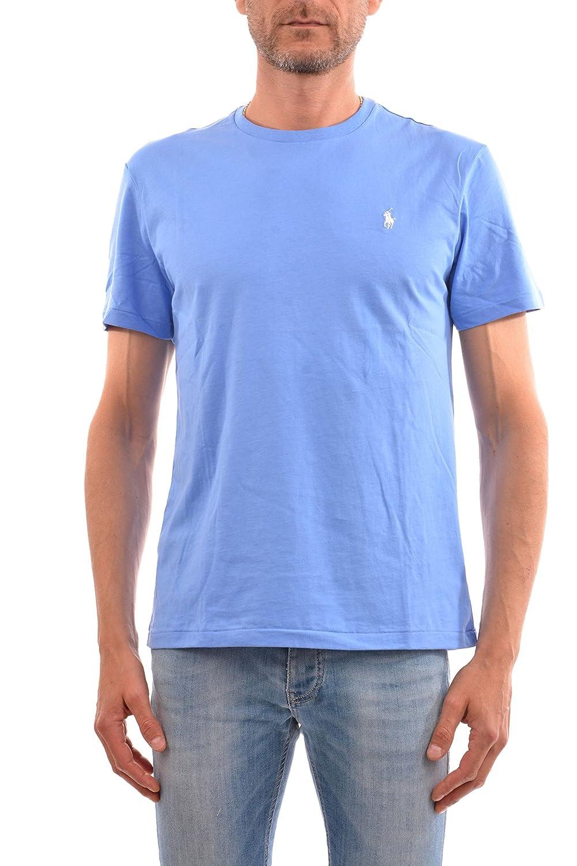 ea6d08a15413e Polo Ralph Lauren Mens Classic Fit Solid Crewneck T-Shirt (Small, Blue) |  Amazon.com