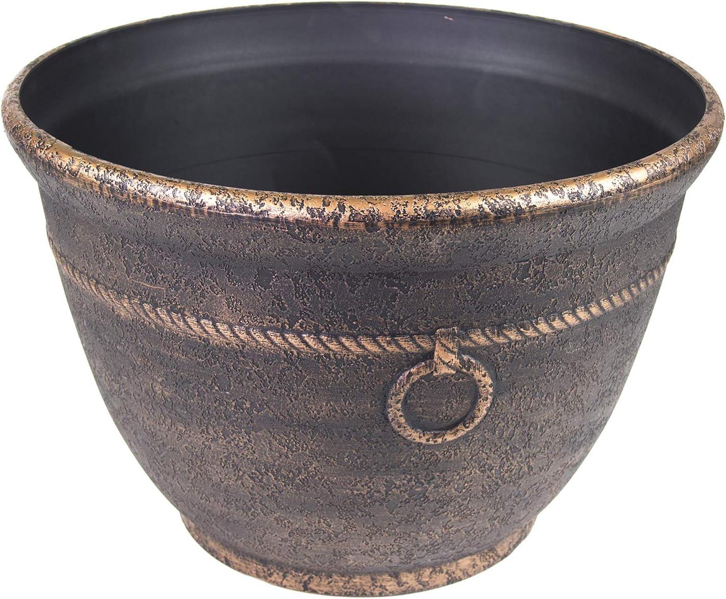 Liberty Garden 1925 High Density Resin Banded Hose Pot, Antique Bronze