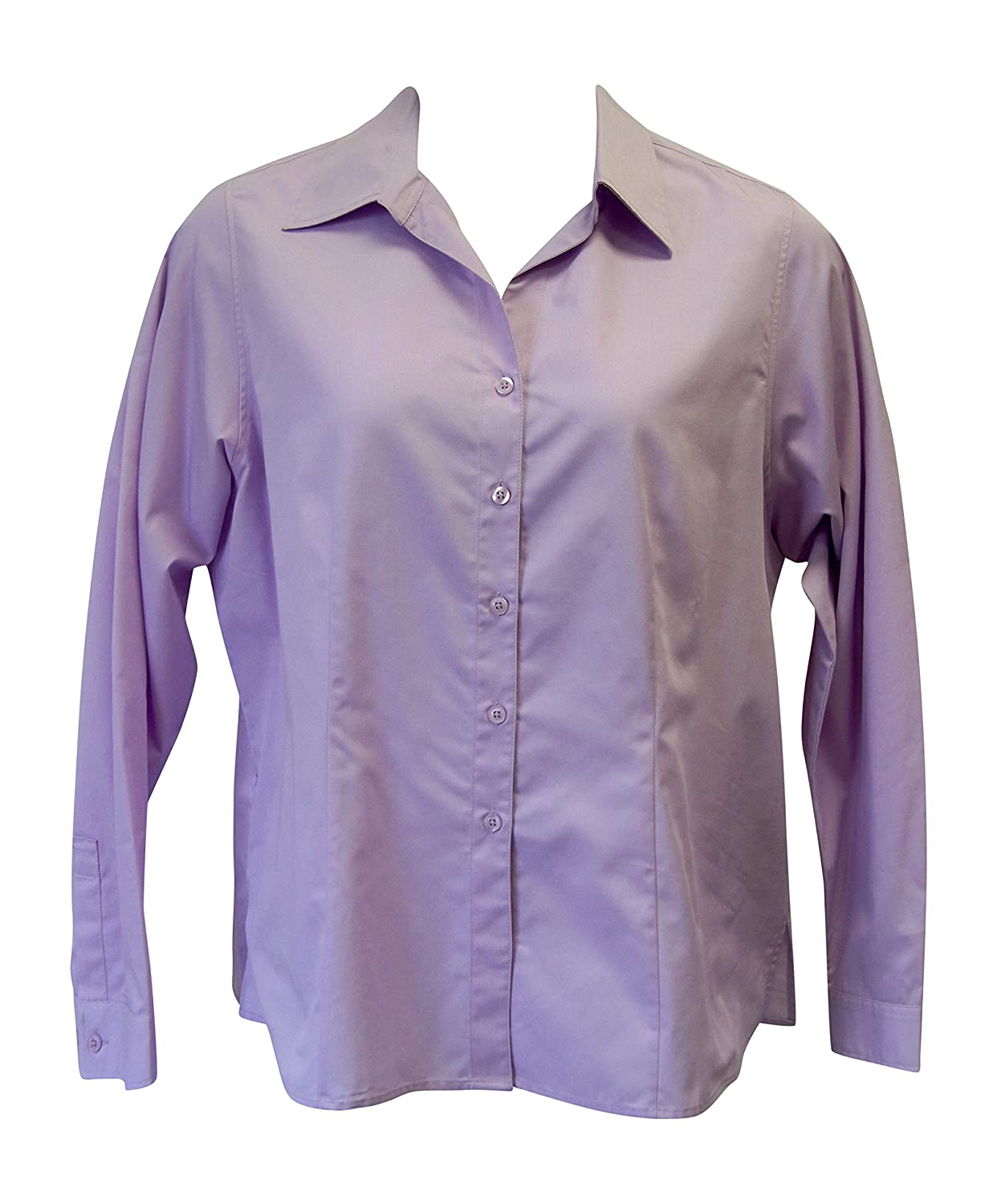 f0213a92e9fd21 Copper Canyon Women's Long Sleeve Solid Blouse Plus Size (1X, Lavender) at  Amazon Women's Clothing store: