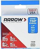 Arrow 50424 5/16-Inch Genuine T50 Staples, 1,250-Pack