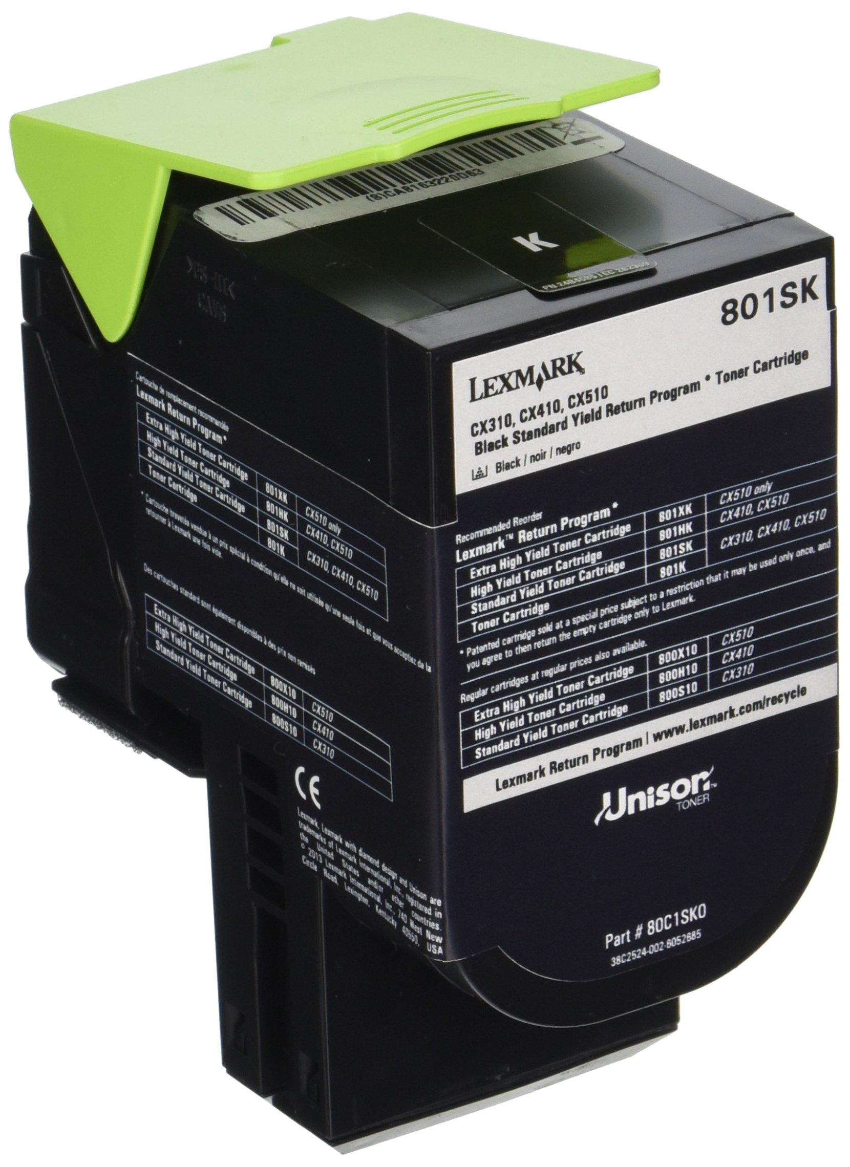 Lexmark 80C1SK0 Black Standard Yield Return Program Toner