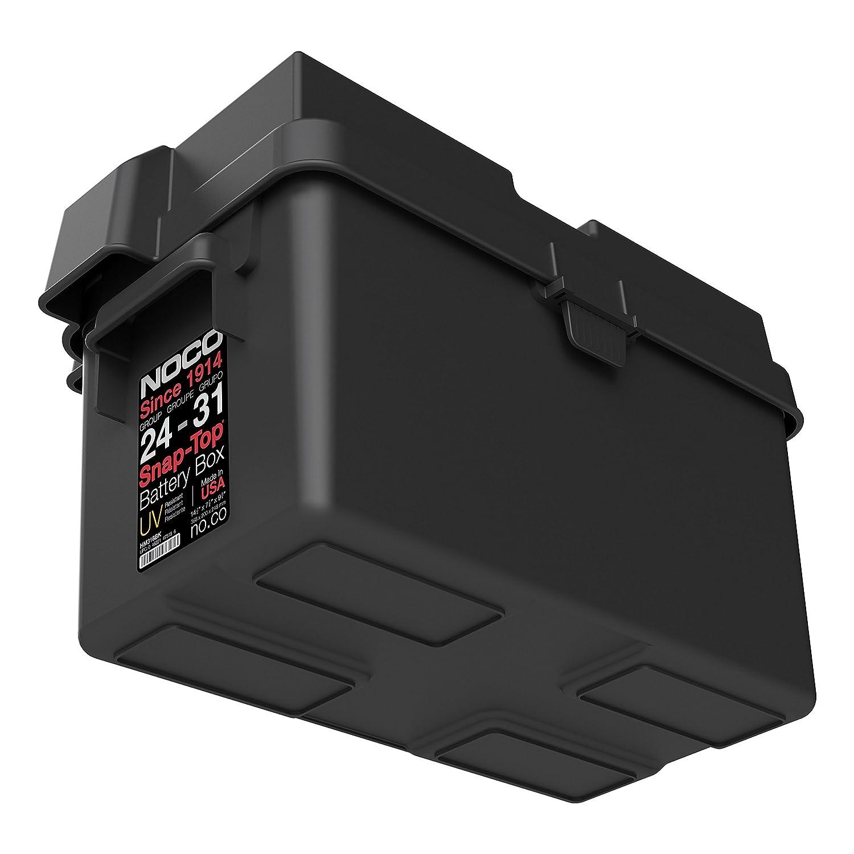 697afe8c8187 Amazon.com: NOCO Black HM318BKS Group 24-31 Snap-Top Box for Automotive,  Marine, and RV Batteries: Automotive