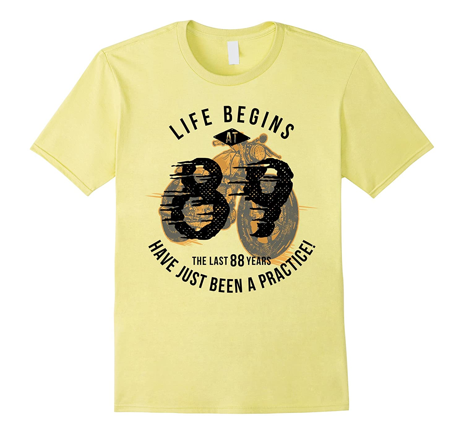 Life Begins at 89 - Vintage 89th Birthday Gift T-Shirt-PL
