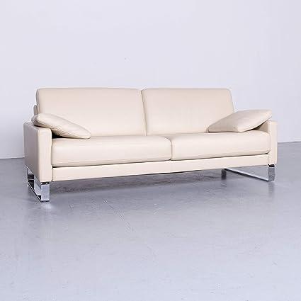 Rolf Benz Ego Leder Sofa Creme Beige Dreisitzer Couch Echtleder 6474 Sanaa Amazon Co Uk Kitchen Home
