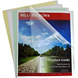 C-Line Clear Report Covers Only, Economy Vinyl, For Use with Slide 'N Grip Binding Bars, 8.5 x 11 Inches, 100 per Box (31347)