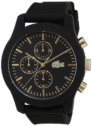 daefa100fb Lacoste Homme Chronographe Quartz Montres bracelet avec bracelet en  Silicone - 2010826