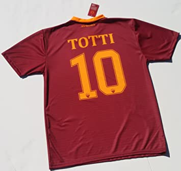 Camiseta Jersey Futbol Roma Francesco Totti Replica Para Hombre Autorizado (M): Amazon.es: Deportes y aire libre
