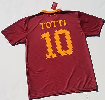 Camiseta Jersey Futbol Roma Francesco Totti Replica Para Hombre Autorizado: Amazon.es: Deportes y aire libre