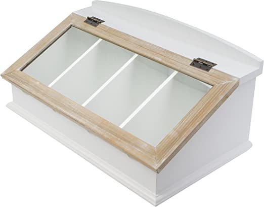 elbmöbel.de - Caja para cubiertos (madera, con tapa de madera ...