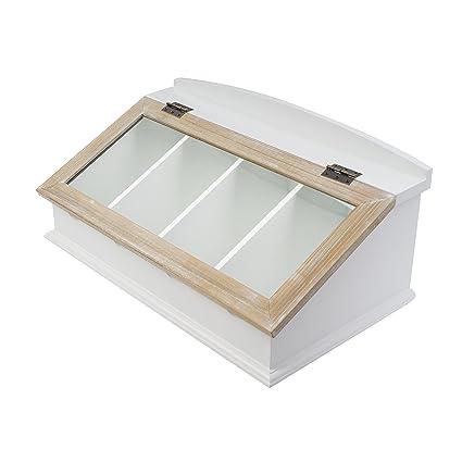elbmöbel.de - Caja para cubiertos (madera, con tapa de madera)