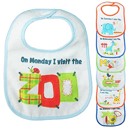 Algodón bebé baberos Bundle Set para niños niñas bebés recién nacidos Niños Niños Niños Unisex Multipack suave grandes animales zoo impermeable ...