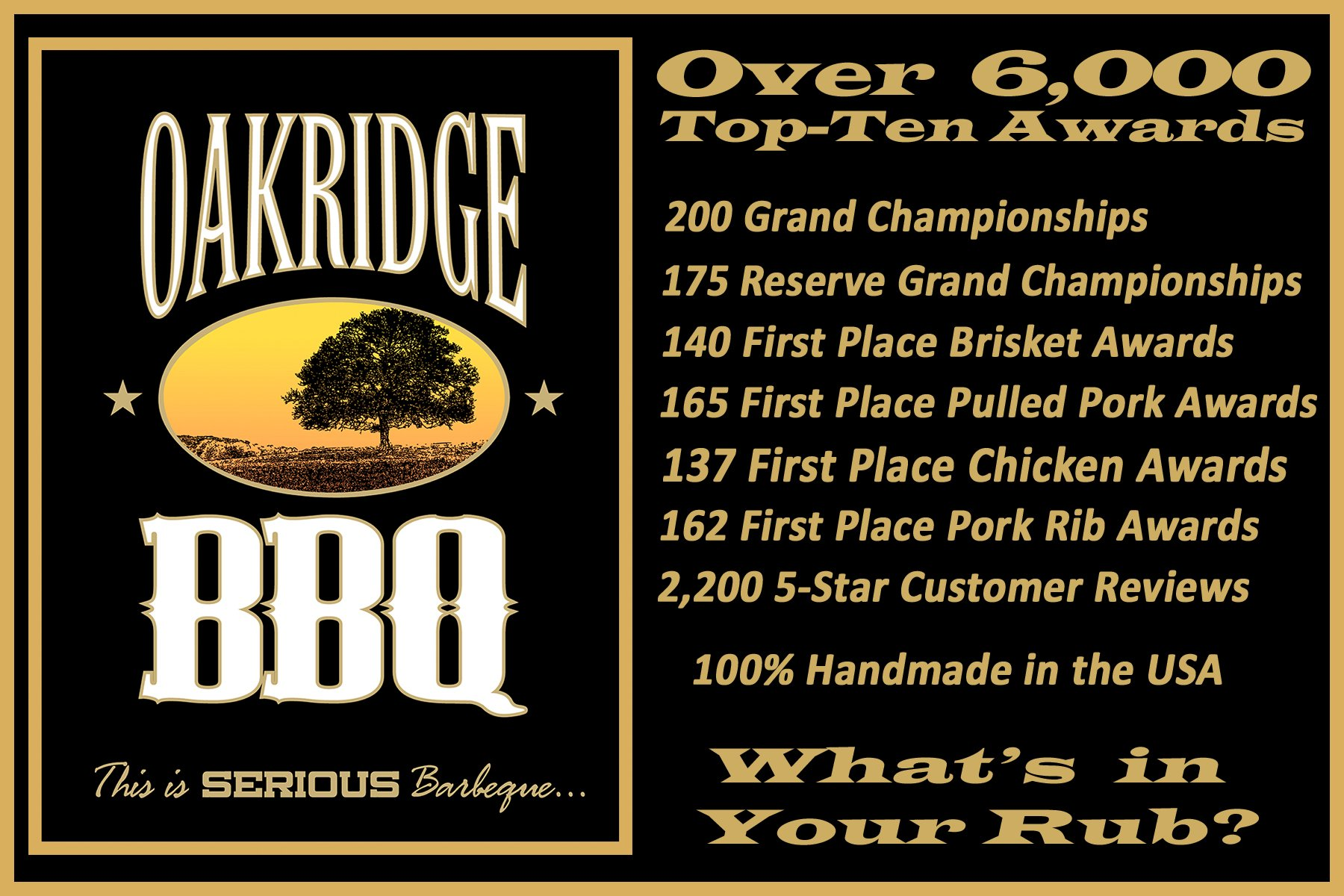 Oakridge BBQ The Ultimate Back Yard BarBQ Kit - Contains Eight (8) of the Most Popular Barbeque Rubs and Seasonings by Oakridge BBQ (Image #6)