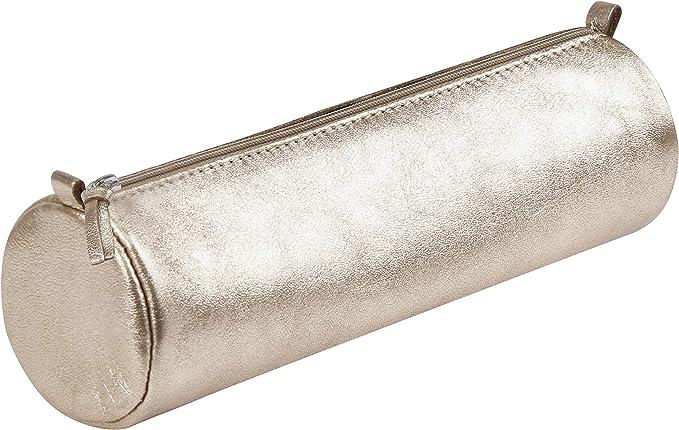 Les Vilaines Filles 38-VF-016 Trousse /à crayons Chut je bosse Non jd/éconne Rose Paillettes Polyur/éthane Fermeture zip H8 x 7 x 21 cm