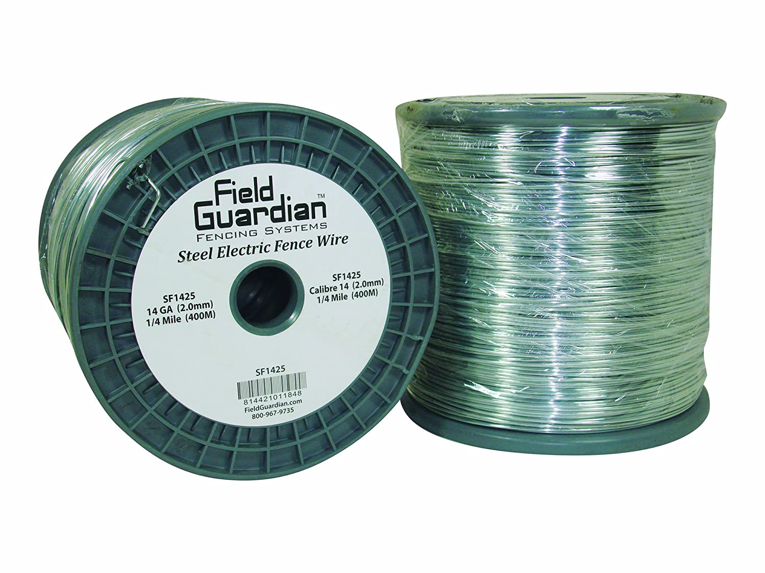 Amazon.com: Field Guardian 14-Guage Galvanized Steel Wire, 1/4 Miles ...
