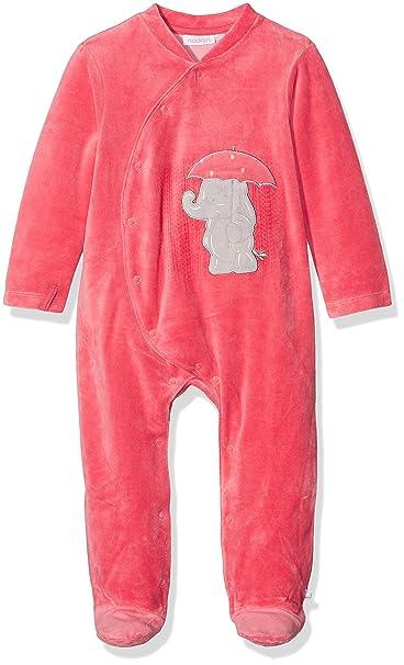 Noukies Pyjama 1PCS Bord DE MER, Pelele para Dormir para Bebés, Rojo Corail,