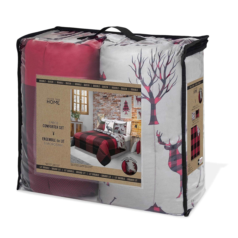 Amazon Com Safdie 60792 3dq 11 Full Queen Buffalo Plaid Comforter