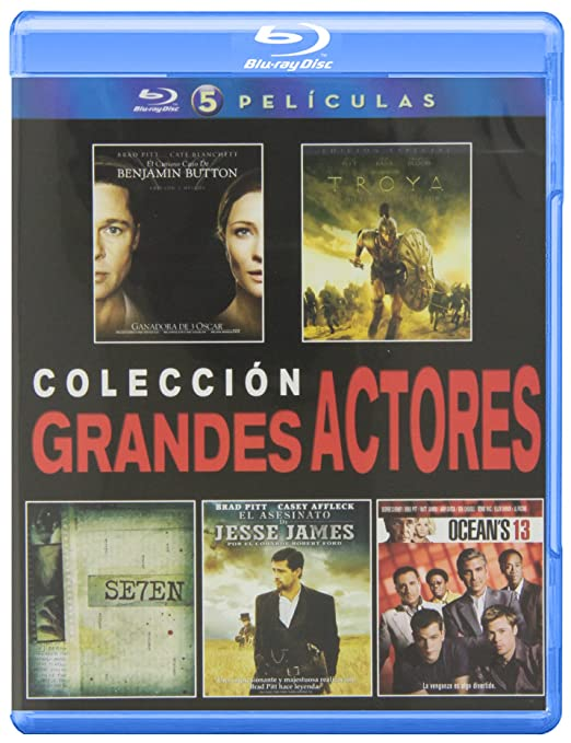 Pack: Seven + Troya + El Asesinato De Jesse James + Oceans 13 + El Curioso Caso De Benjamin Button Blu-ray: Amazon.es: Brad Pitt, Cate Blanchett, Eric Bana, Orlando Bloom, Morgan Freeman,