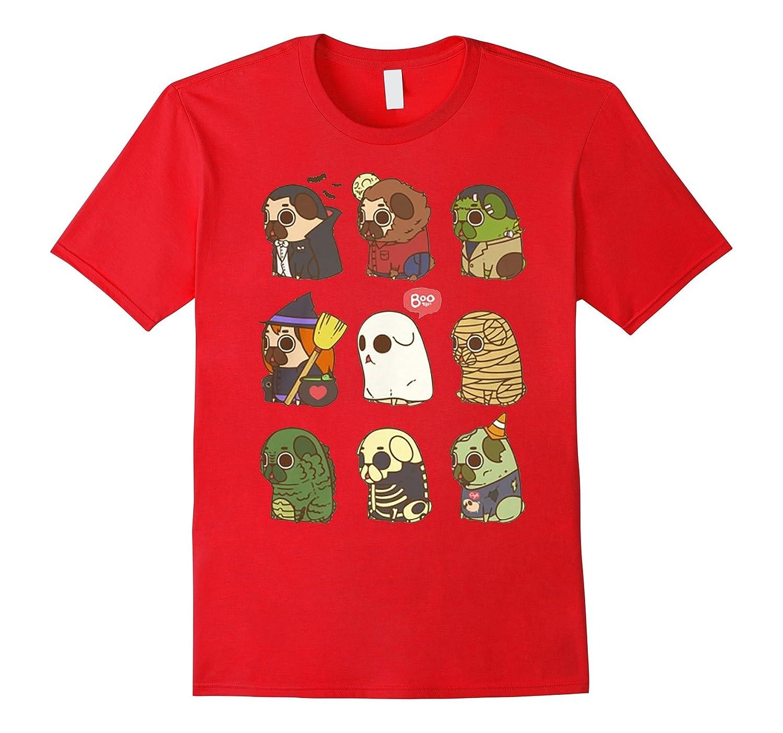 Pug shirt - Cute Pug Style Halloween T-Shirt-RT