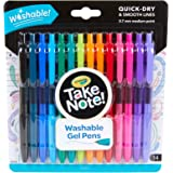 Crayola Take Note! Washable Gel Pens, Quick Dry, 14 Pack, Smooth 0.7mm Medium Tip, 14 Fashion Bright Colours, Back to School, Perfect for Note Taking and Bullet Journaling !