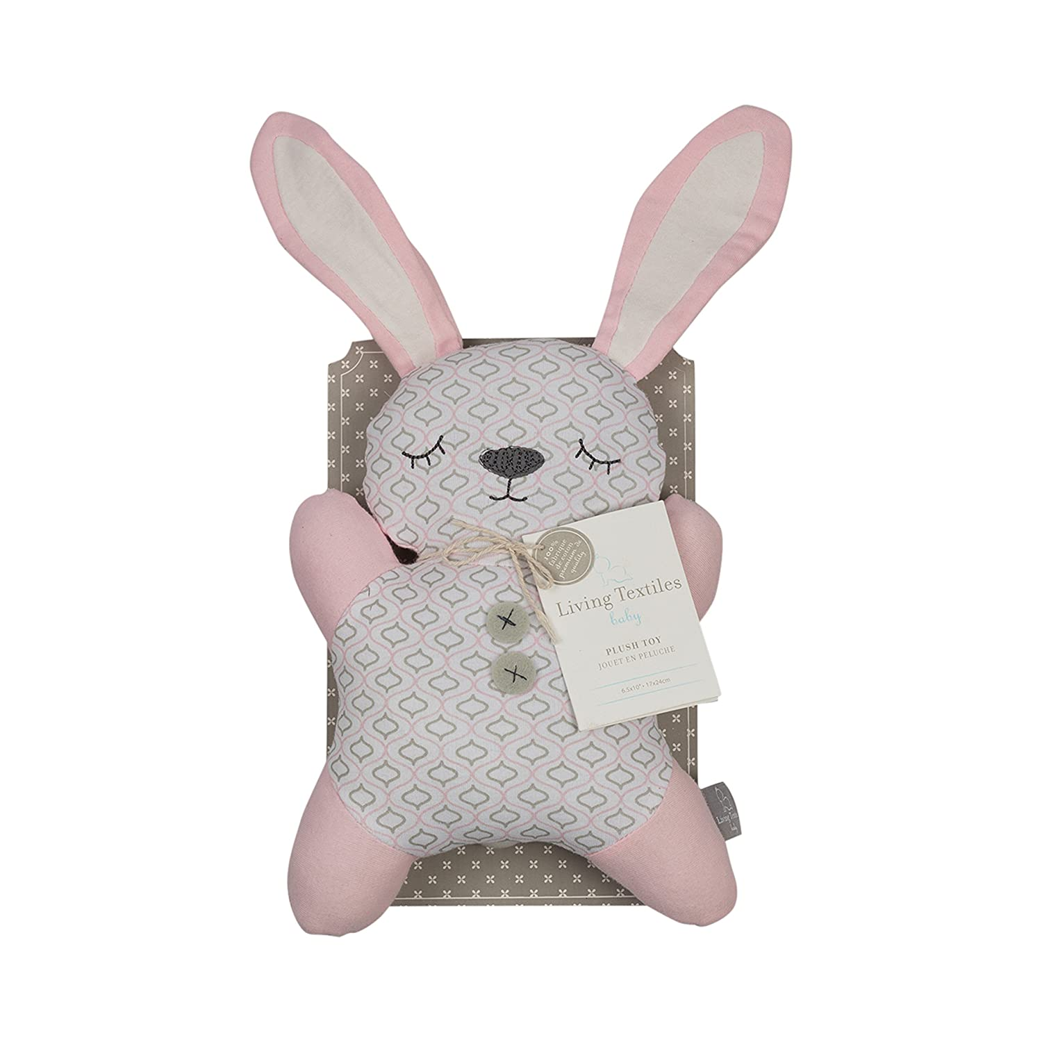 Amazon.com: Living Textiles 2D Plush Toy – Bunny – Soft, Padded Stuffed Animal, Soft Jersey Exterior W/Plush Fill, Classic & Timeless Addition For Nursery, ...
