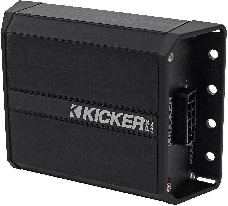 Kicker 42PXA200.1 200w Mono Amplifier Amp 4 Polaris//Motorcycle//ATV//UTV//RZR//Cart