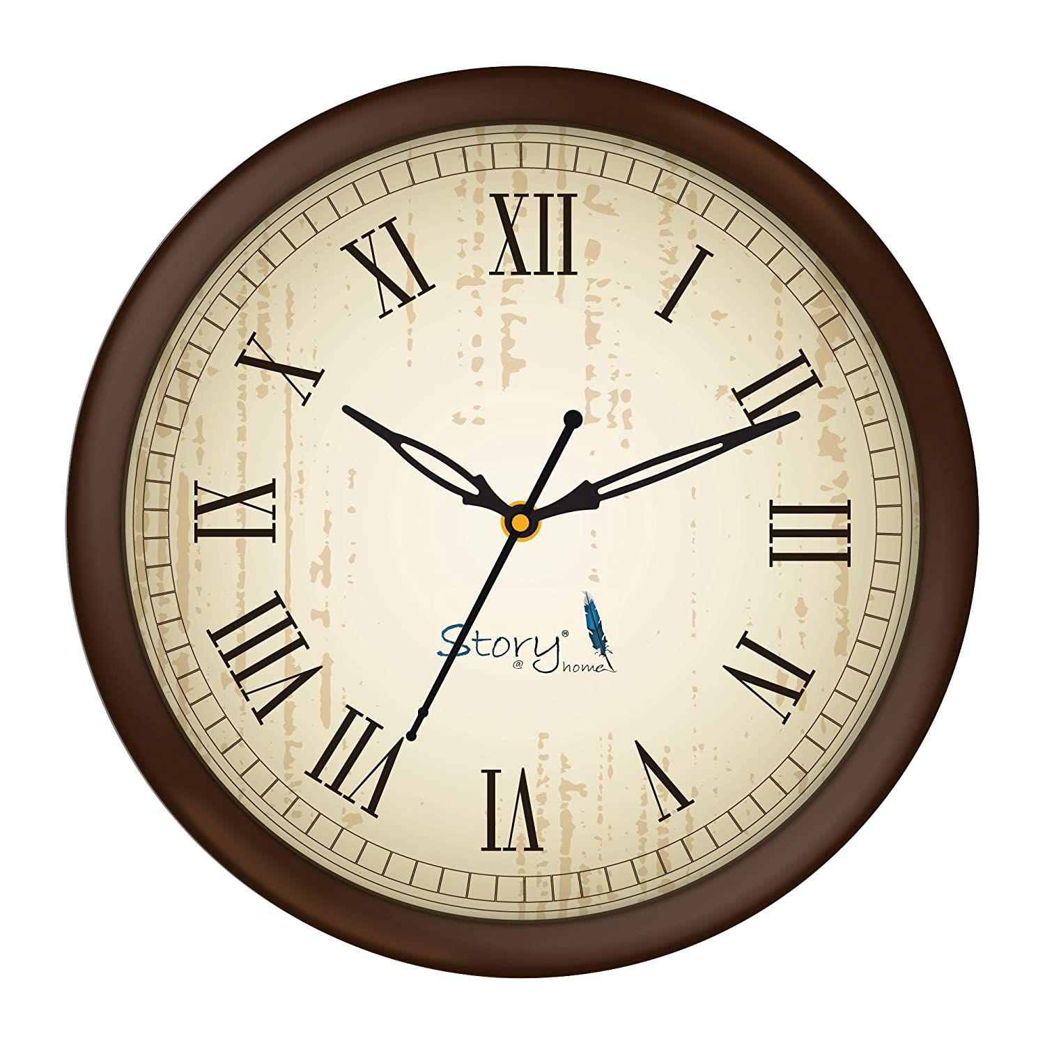 Story@Home 10-inch Round Shape Wall Clock with Glass