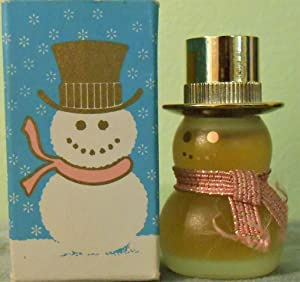 Avon Field Flowers Pure Perfume 1/4oz Miniature Snowman Petite Figural Decanter
