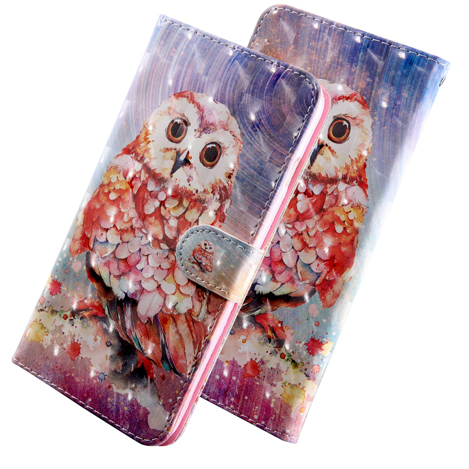 3D Pattern Design Wallet Flip Case for Apple iPhone 11 #3 Lace Bear Village iPhone 11 Case PU Leather Book Style Cover with Card Slots