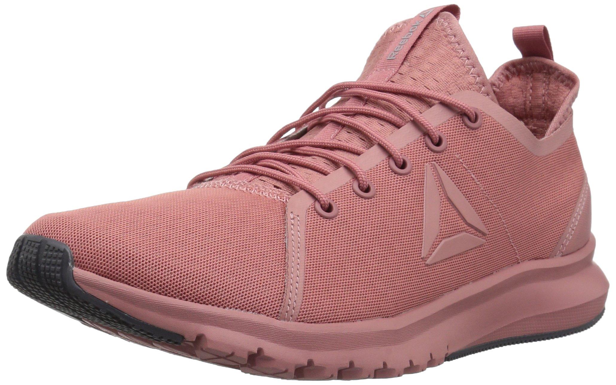 Reebok Women's Plus Lite Track Shoe, Sandy Rose/Shell Pink/White/Ash Grey/Skull Grey, 6.5 M US