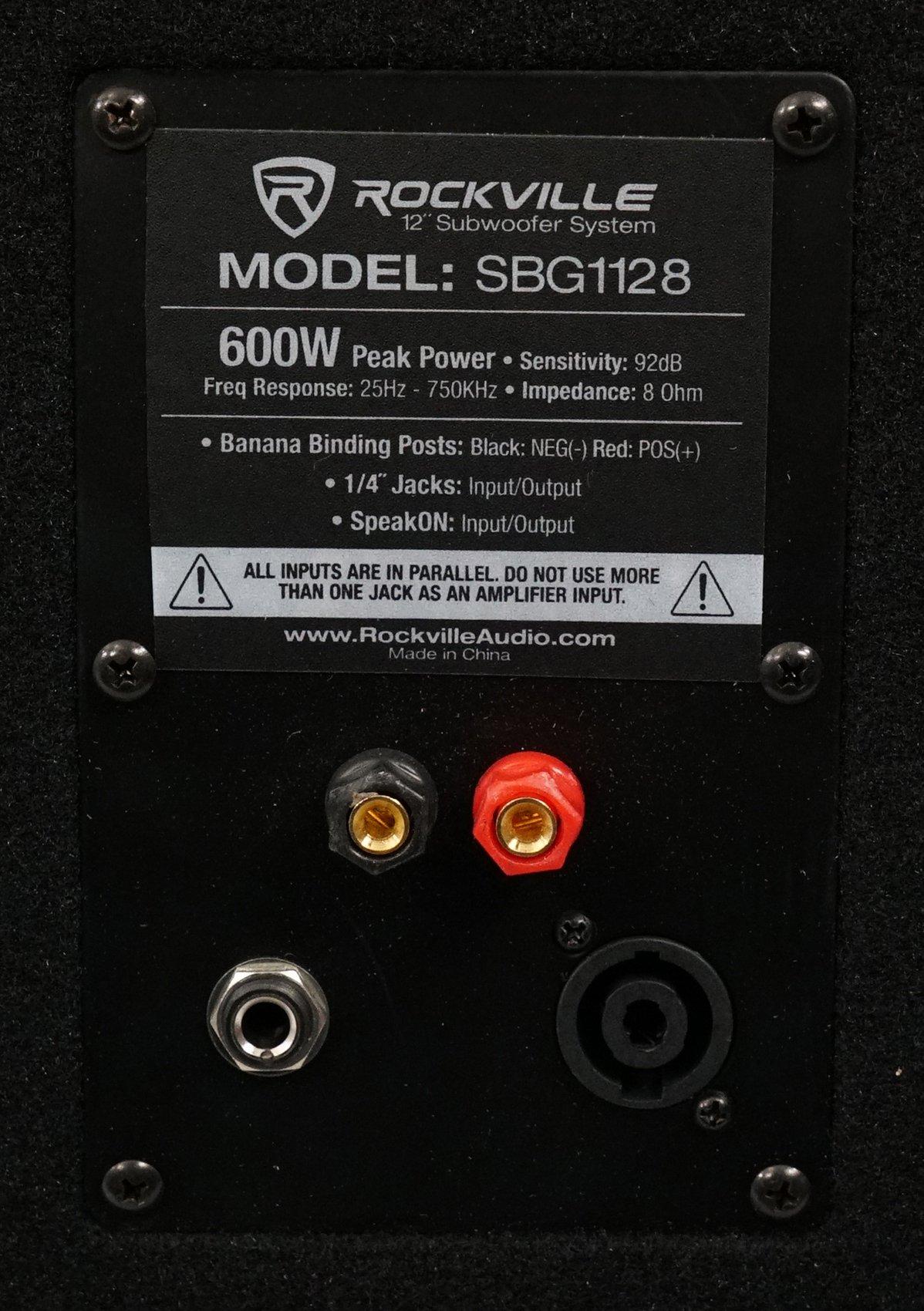 Rockville SBG1128 12'' 600 Watt Passive Pro DJ Subwoofer, MDF Cabinet/Pole Mount by Rockville (Image #7)