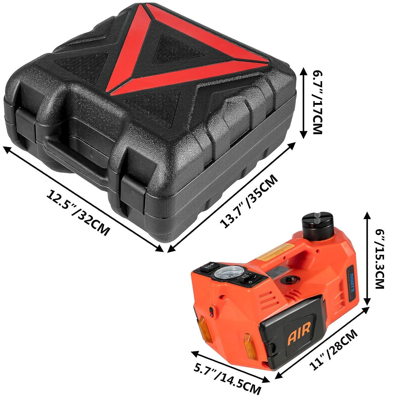 11023lb Gato Hidraulico Carretilla con Conjunto de Llave El/éctrica para Veh/ículos Mophorn Gato El/éctrico para Coche Gato Autom/ático del Coche 12V DC 5T
