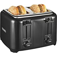 Proctor Silex 4-Slice Extra-Wide Slot Toaster with Cool Wall, Shade Selector, Toast Boost, Auto-Shutoff and Cancel Button, Black (24215)