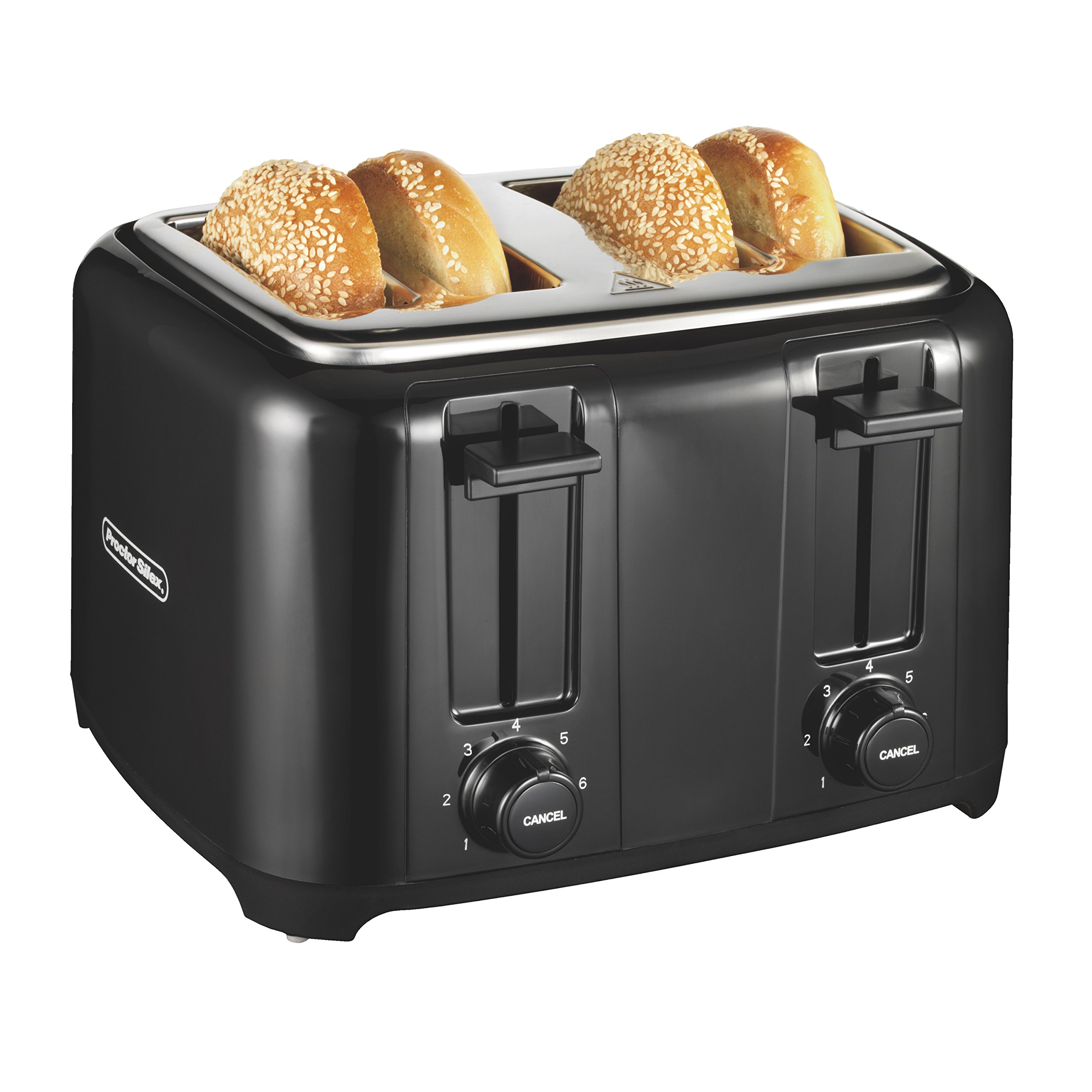 Proctor Silex 4-Slice Extra-Wide Slot Toaster With Cool Wall, Shade Selector, Toast Boost, Auto-Shutoff And Cancel Button, Black (24215) by Proctor Silex