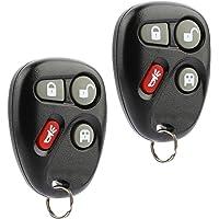 Car Key Fob Keyless Entry Remote fits 2003 2004 2005 2006 2007 Chevy Express, GMC Savana (KOBLEAR1XT, 15752330), Set of 2