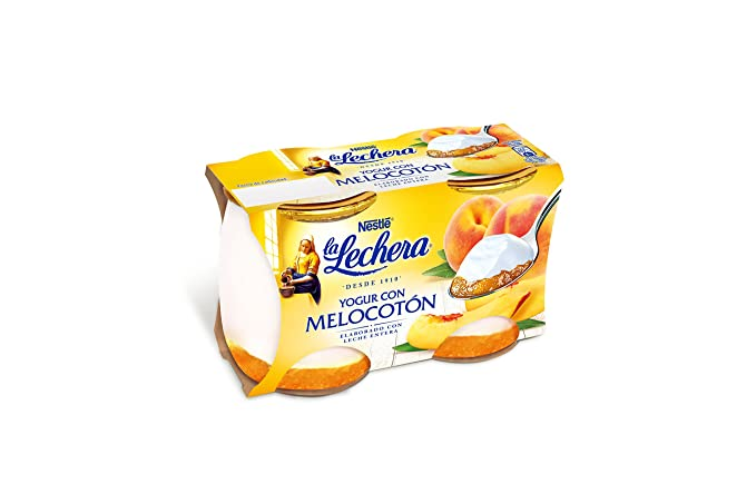 La Lechera, Yogur de sabor (Mermelada de melocotón) - 2 de 125 ml