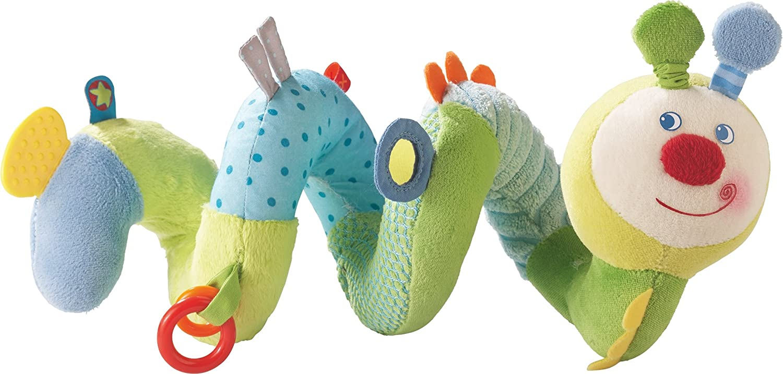 Haba 301833 - Mobile-Spirale Frühlingswürmchen, Kleinkindspielzeug
