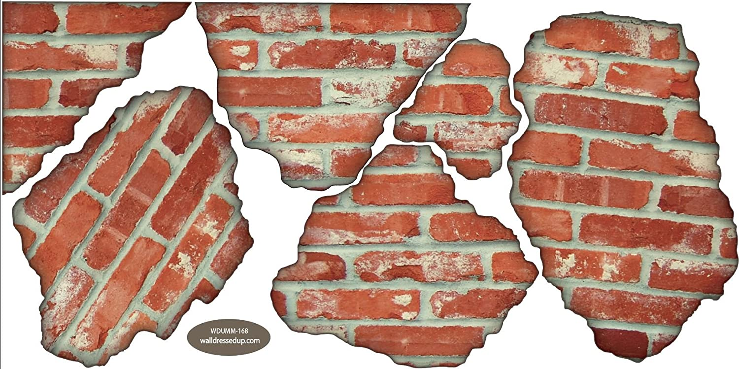 Beautiful Amazon.com: Faux Brick Breakaway Wall Decals Repositionable Peel And Stick:  Home U0026 Kitchen Part 20