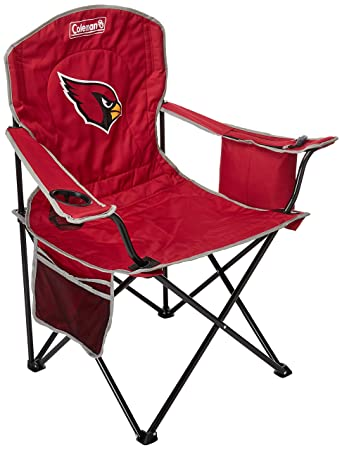 Cool Coleman Nfl Cooler Quad Folding Tailgating Camping Chair With Built In Cooler And Carrying Case All Team Options Squirreltailoven Fun Painted Chair Ideas Images Squirreltailovenorg