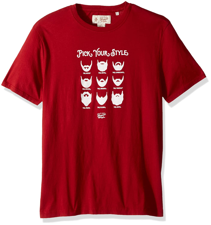 Original Penguin Men's Short Sleeve Pick Your Style Tee OPKH7C51