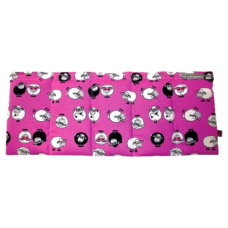 W/ärmekissen K/örnerkissen Dinkelkissen Crazy Sheeps Sch/äfchen pink ca 50x20cm