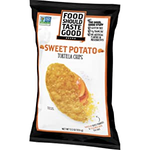 Food Should Taste Good Sweet Potato Tortilla Chips, 6 Ounce -- 12 per case.