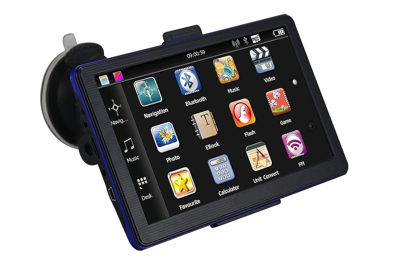 Maxfind 17,8 cm Voiture de Navigation GPS é cran Tactile HD 8 g 256 m avec Une Vie utile, Cartes, et Le Trafic (Bleu) 8cm Voiture de Navigation GPS écran Tactile HD 8g 256m avec Une Vie utile Mixhome