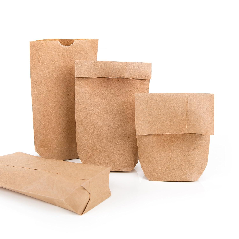 100 Bolsas Pequeñas Bolsas marrones de papel de estraza 9 x ...