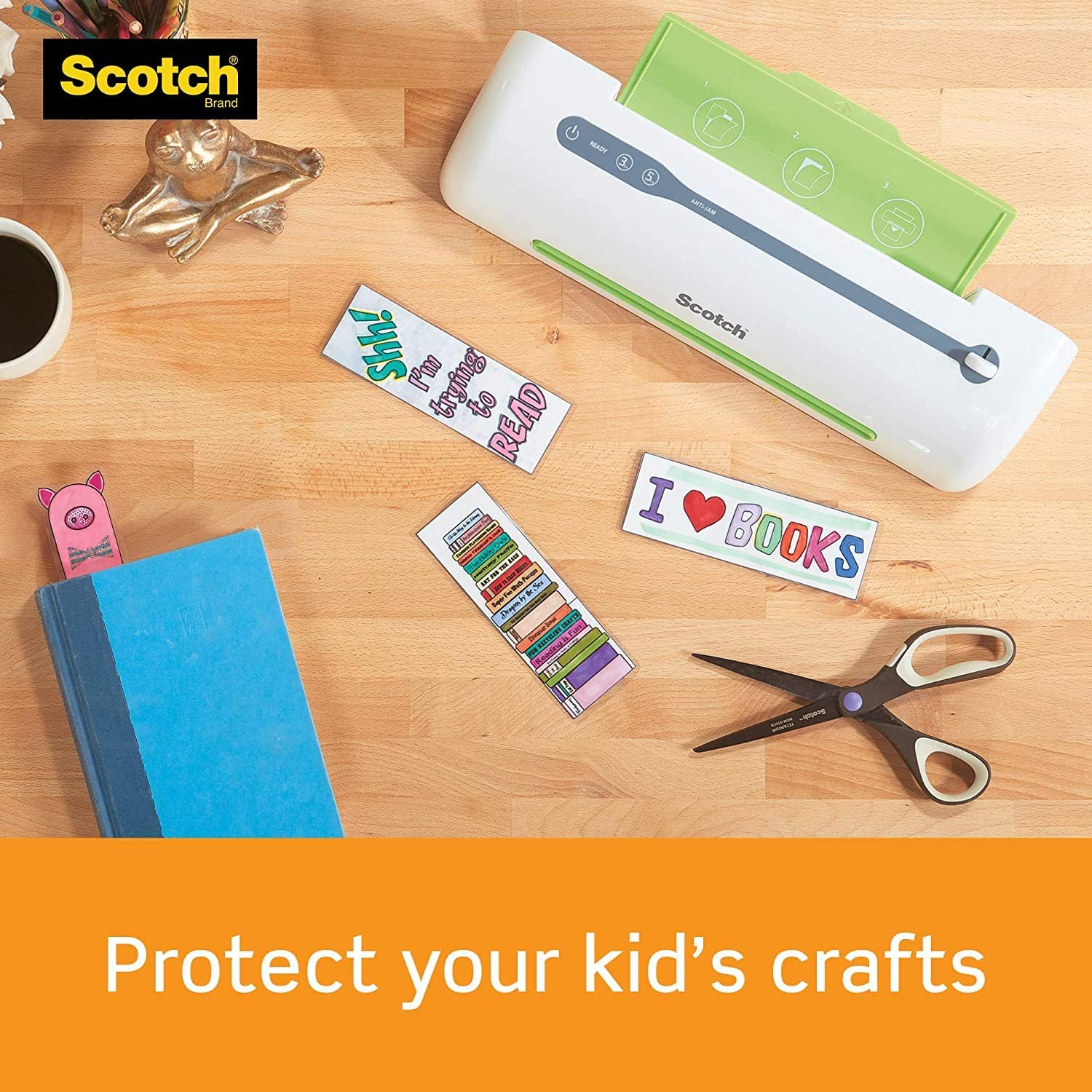 Scotch Thermal Laminating Pouches Clear 2 Pack Letter Size Sheets 8.9 x 11.4 Inches 3-Mil 200-Pack
