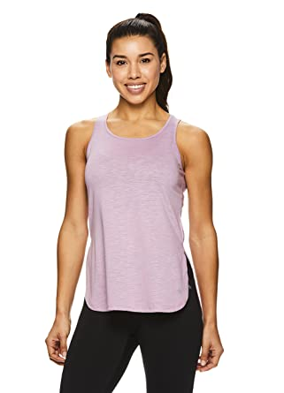 a52c428dff8 Nicole Miller Active Women's Side Slit Racerback Tank Top - Tunic Style  Workout Shirt - Lavender