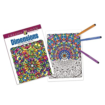 Faber-Castell Creative Haven Dimensions Coloring Book and Pitt Artist Brush Pens: Toys & Games