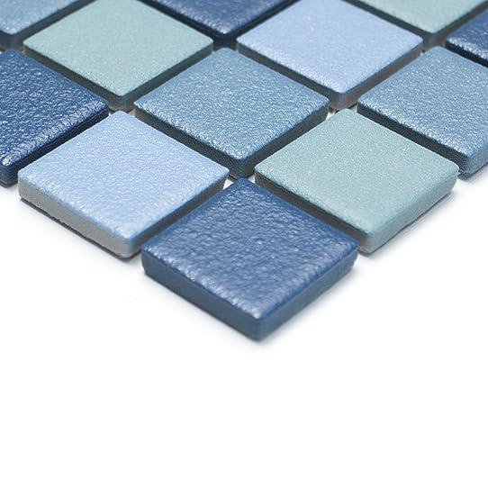 carrelage mosaïque antidérapant r10 céramique pour salles de bains ... - Carrelage Sol Salle De Bain Antiderapant