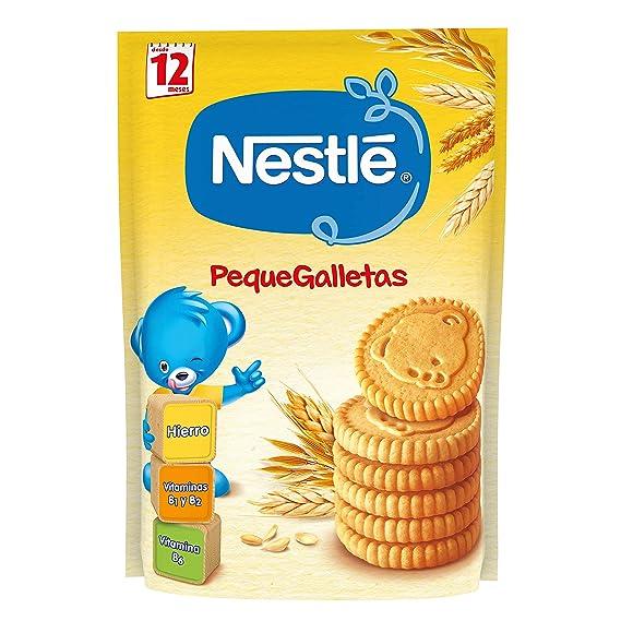 Nestlé PequeGalletas Para bebés a partir de 12 meses - Paquete de Galletitas Para bebés de 6x180g